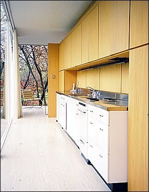 Farnsworth Interior mies arquitectura cocina