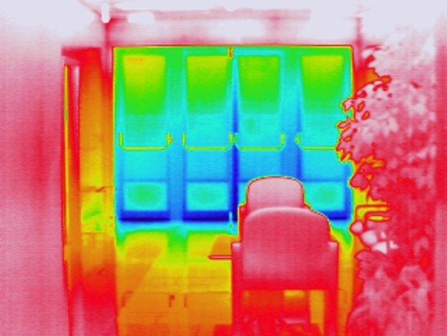aislamiento termico termografia
