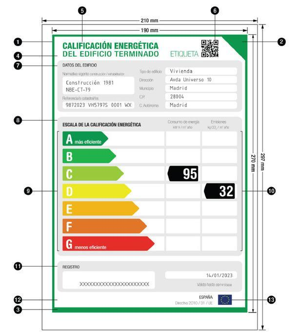 Etiqueta de Certificación Energética
