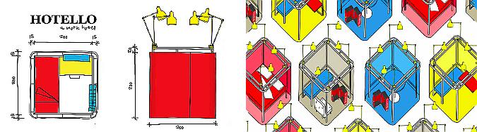 Hotello portable room (Fot:conceptualdevices.com)