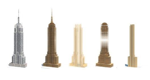 Empire State de madera