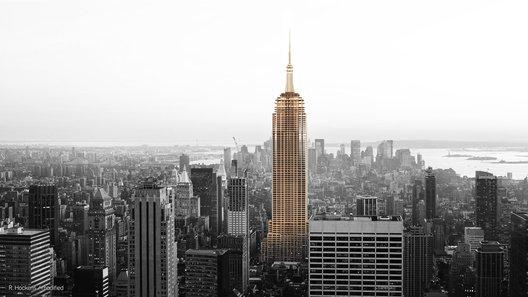 Empire State en madera inofgrafía