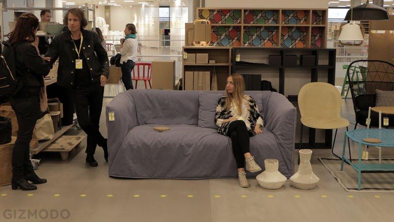 IKEA muebles papel sofá