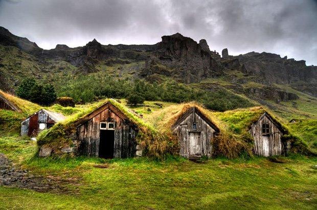Islandia vivienda enterrada