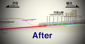 Obra modificacion linea metro