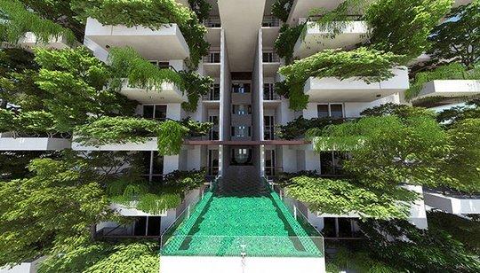 Arquitectura verde irreal (Imagen de shft)
