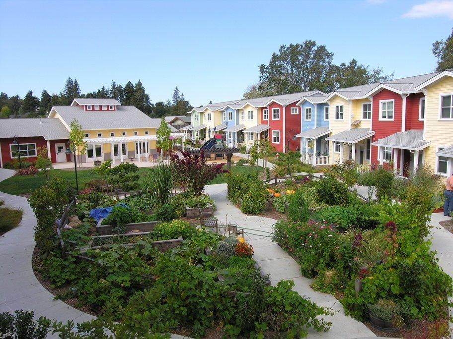 Viviendas en cohousing verde