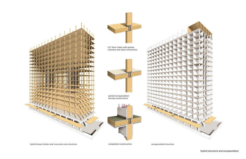 Torre de madera de 18 plantas