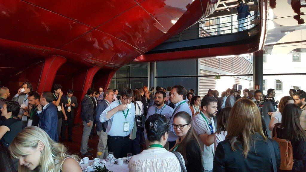 Imagen de las conferencias del congreso de edificación sostenible