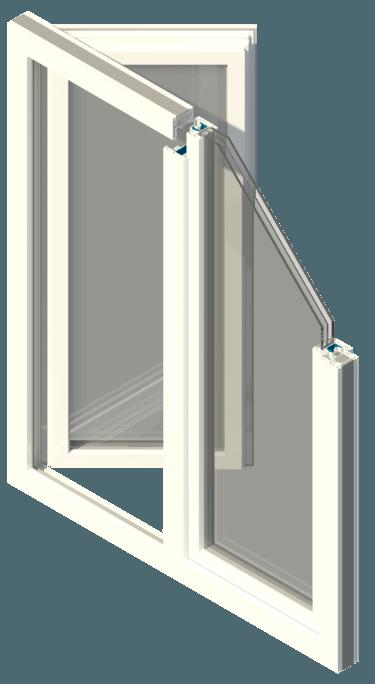 Imagen de la ventana de PVC certificada