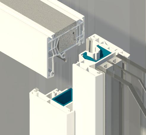 Imagen de la ventana de PVC certificada: unión perfiles
