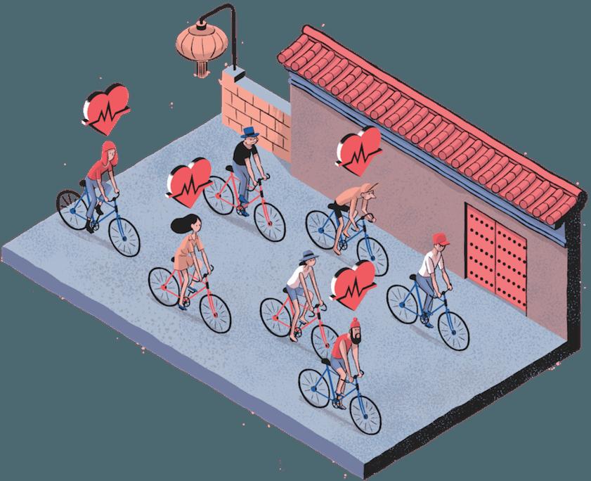 Salud de los ciclistas urbanos