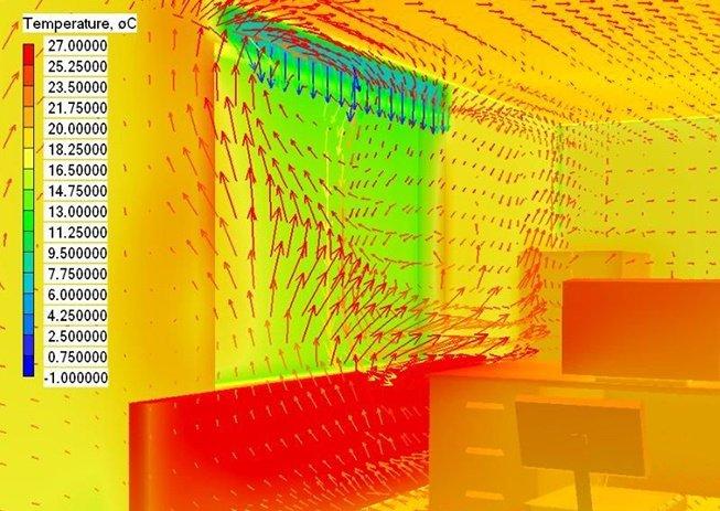 Imagen de resultados de simulación energética de una edificio