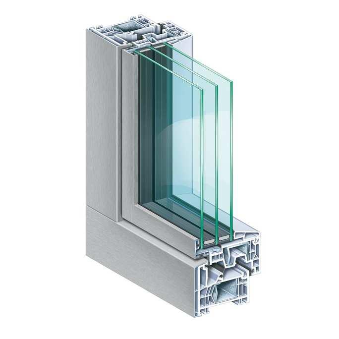 Imagen de la ventana con el acabado de aluminio