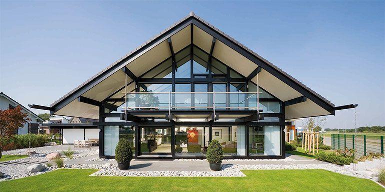 Imagen de casa pasiva con cubierta dos aguas
