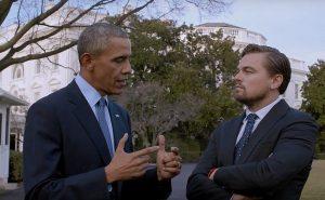 Imagen de Leonardo DiCaprio y Barack Obama