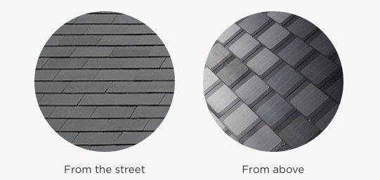 Transparencia de las tejas desde distintos ángulos