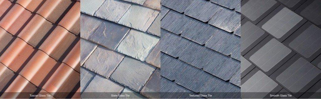Distintos acabados de teja solar