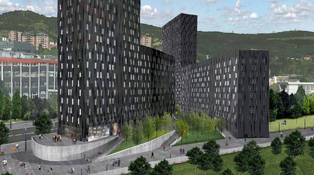 Imagen virtualdel bloque de viviendas