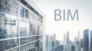 Imagende edificios y la palabra BIM