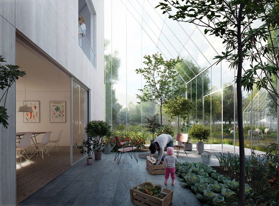 Imagen renderizada del interior de las viviendas