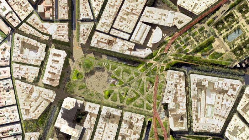 Imagen aérea del 3D de la imagen