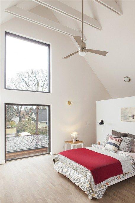 Dormitorio principal, con ventanas