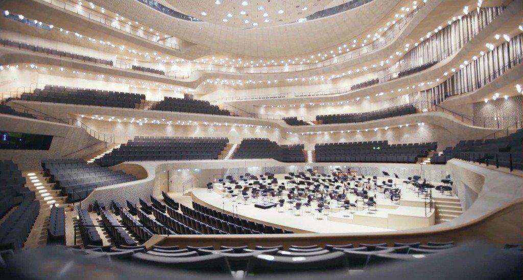 Interior de la sala de conciertos