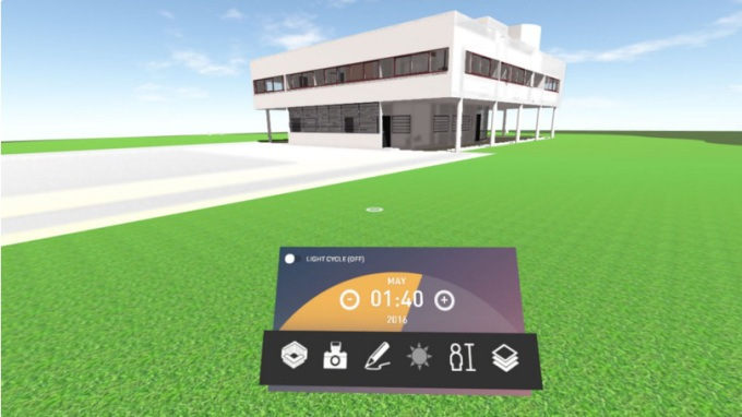 Imagen del modelo BIM en VR