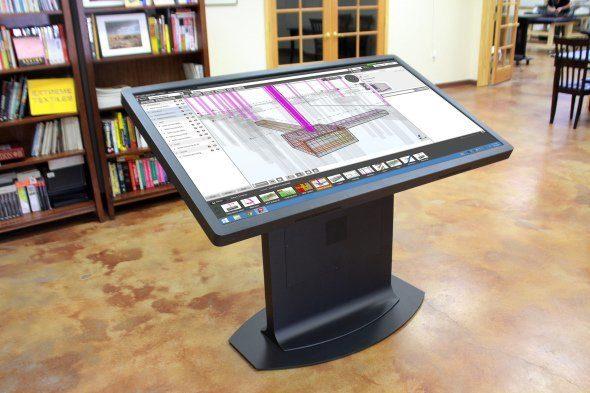 mesa ideum con planos en 3D