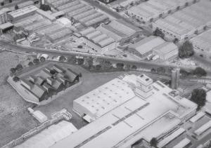 Render del edificio en la parcela de la fábrica