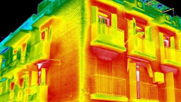 fachada termografía