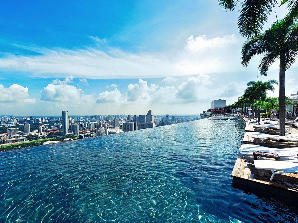 Hotel Marina Bay Sands / Piscina