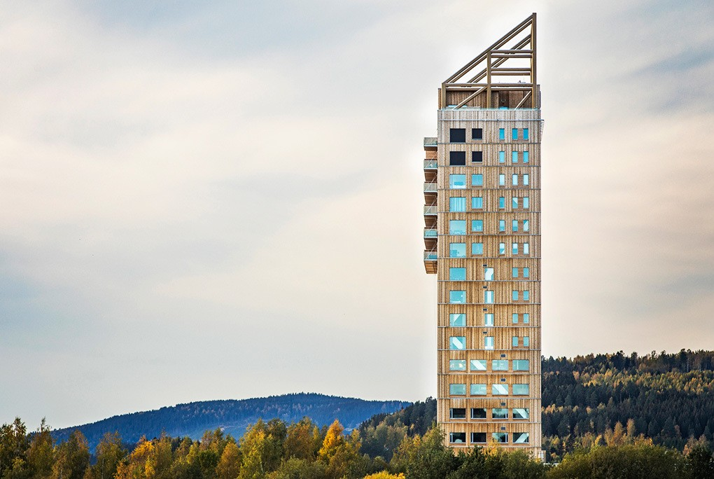 edificio noruega madera